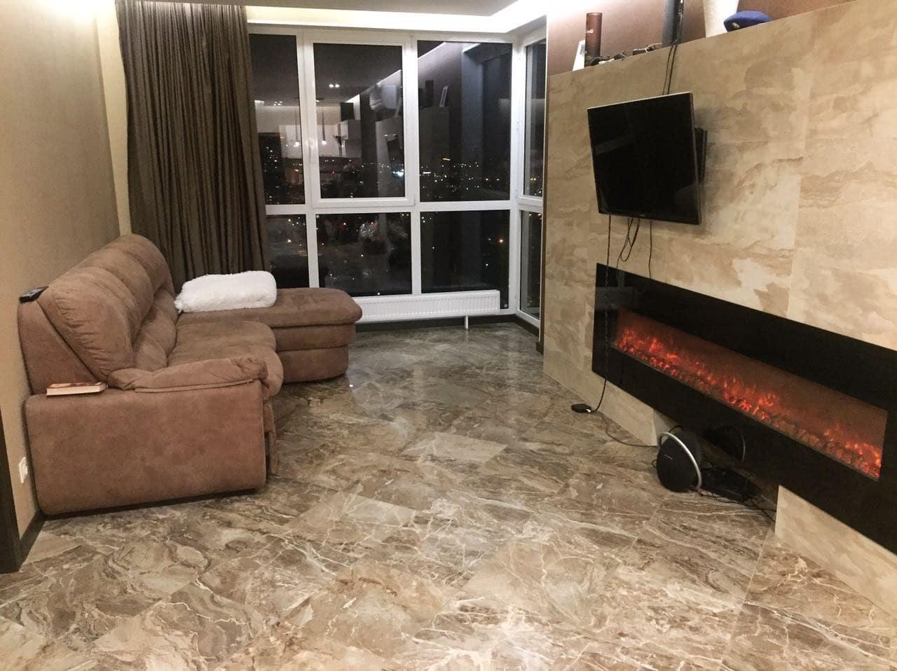 Вид альтернативный гостиная комната квартиры в ЖК Московские Водники