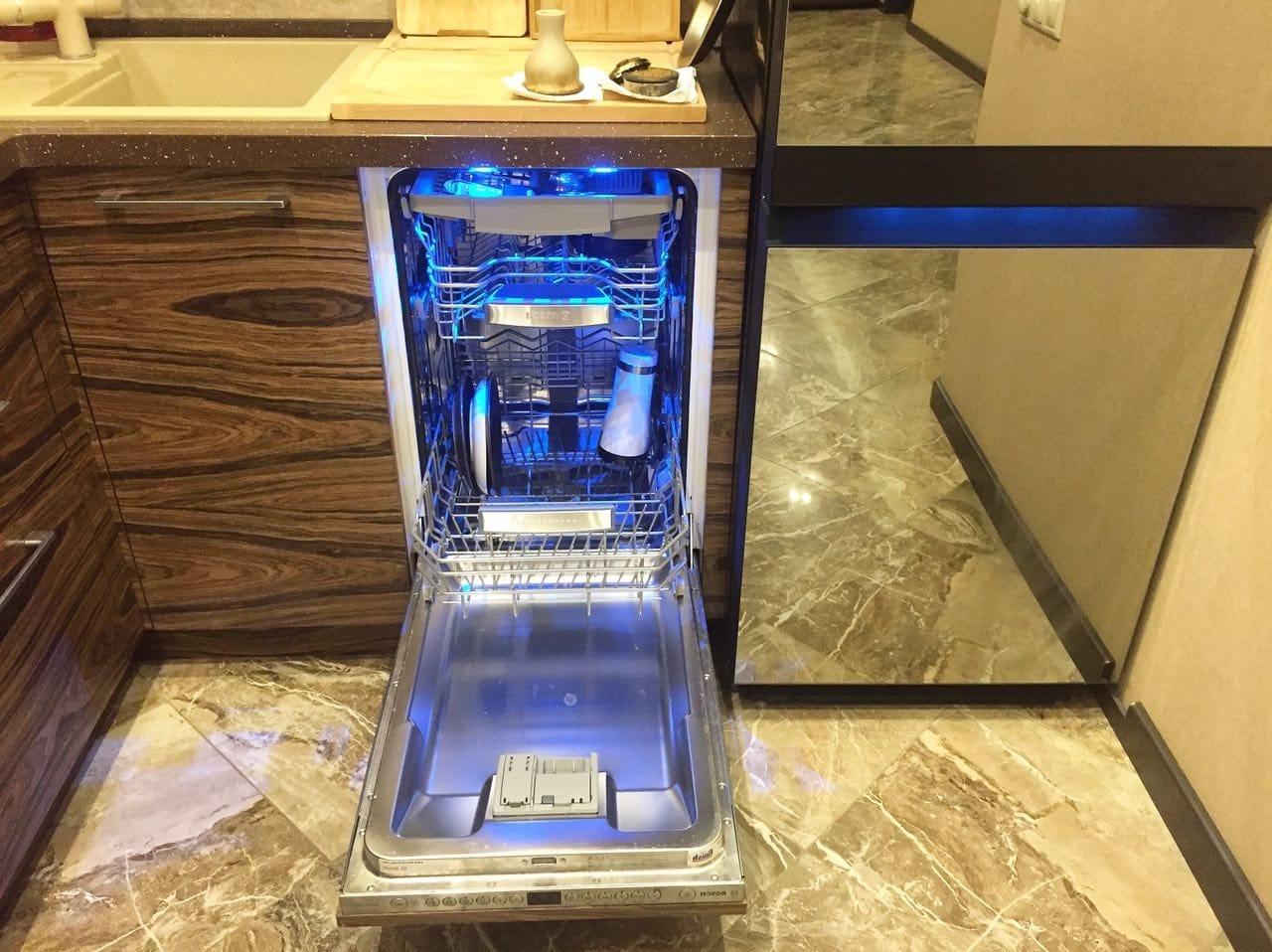 посудомоечная машина с подсветкой