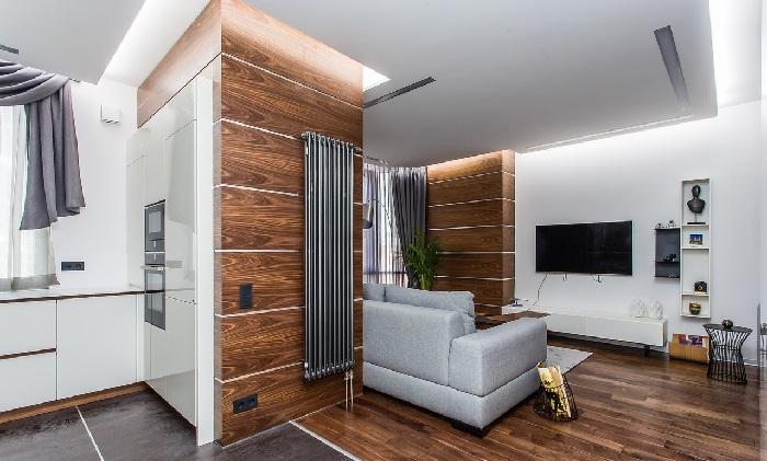Общий вид квартиры, Ремонт и дизайн проект квартиры ЖК Высокая нота (ЖК Гармония).