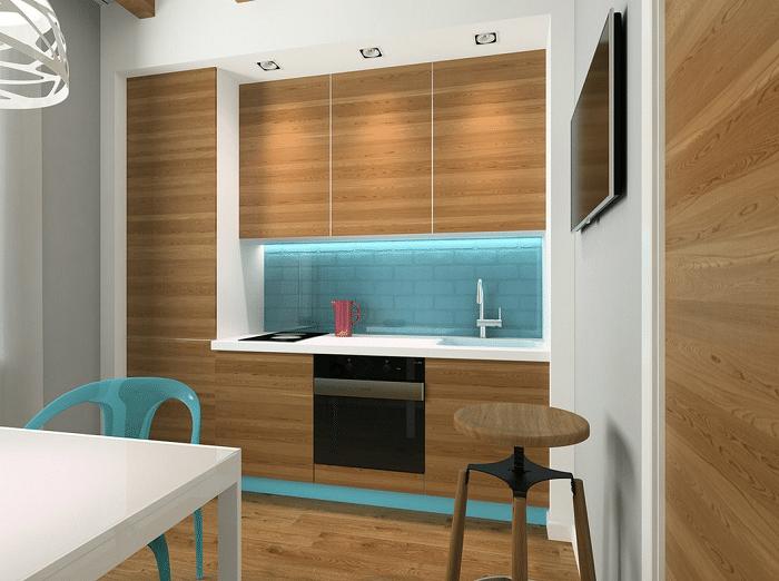 Вид 2 кухни, духовка и плита встроена