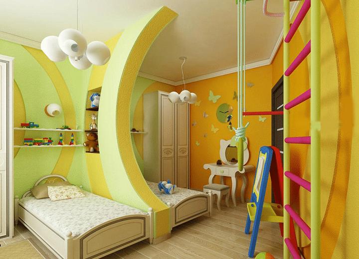 Легкое разграничение пространства возможно при помощи конструкций. Форма и вид изделия можно менять по своему усмотрению. Старайтесь делать интерьер красочным, ярким, запоминающимся.