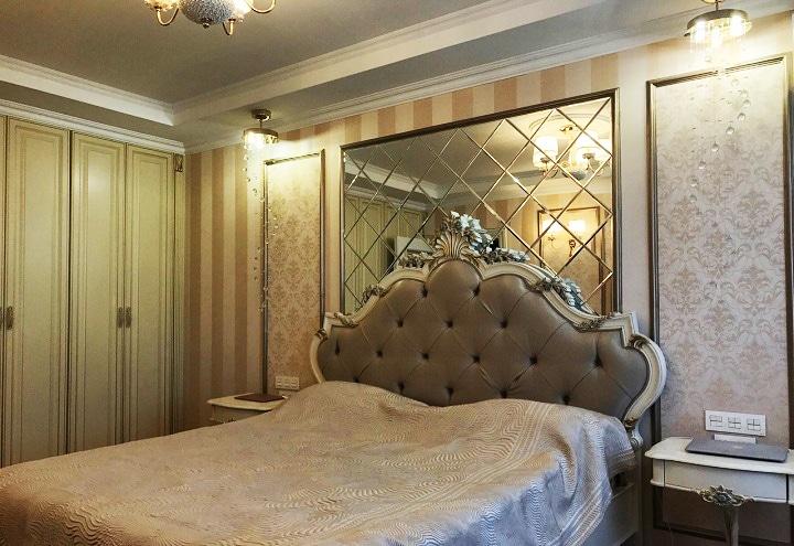 И последняя спальня обустроена аналогичным способом. Дизайн проект в ЖК Рассказово, планировка.