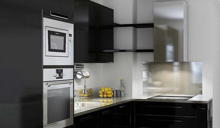 Особенно ответственно стоит относится к угловым кухням. Их расположение и комплектация всегда является затрудненной. Много ящиков в углу может быть не функциональными.