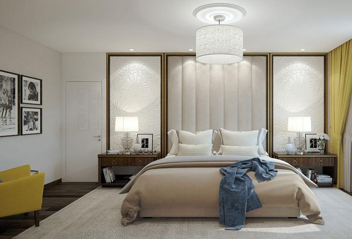 И перед нами пред последний вариант исполнения стиля арт-деко с огромными зеркалами. мягкими декорами. Оцените задумку мастера.