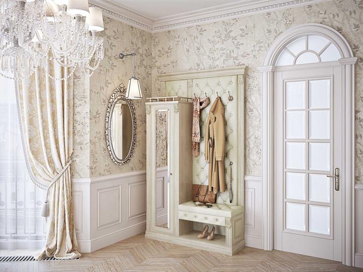 Современный классический стиль оформления прихожих. Модная и компактная мебель. Основные размеры в глубину не превышают 400 мм. А вы хотели бы такой интерьер?
