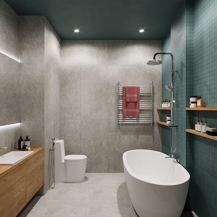 Унитаз напольный с гигиеническим душем.