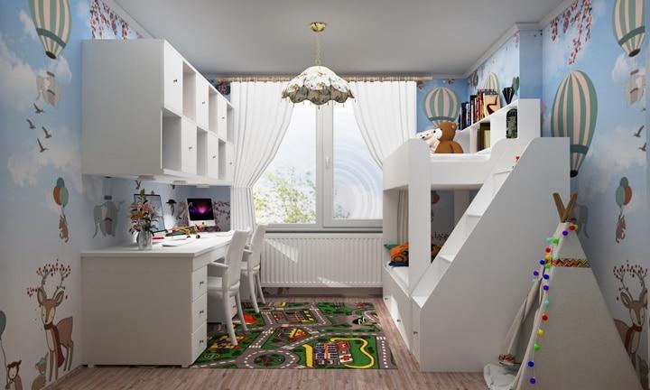На наш взгляд комната должна расти совместно с детьми и меняться с их возрастом.