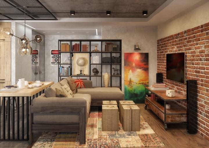 Еще один элемент декора - металлоконструкции, профильная сетка. В зависимости от размеров, габаритов, цвета ее крепление производится на стены или потолок.