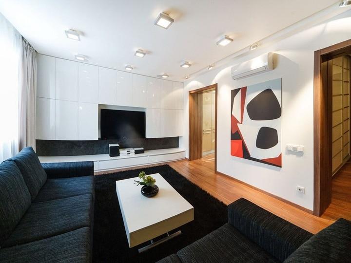 Порталы между помещениями делайте типовыми, тем самым вы облегчаете отделку откосов .