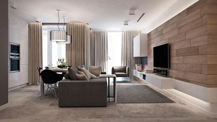 Керамогранит на стену под дерево смотрится потрясающе. 777+ фото и идеи дизайна современных гостиных в стилях: лофт, минимализ, нео классика, арт деко, прованс.