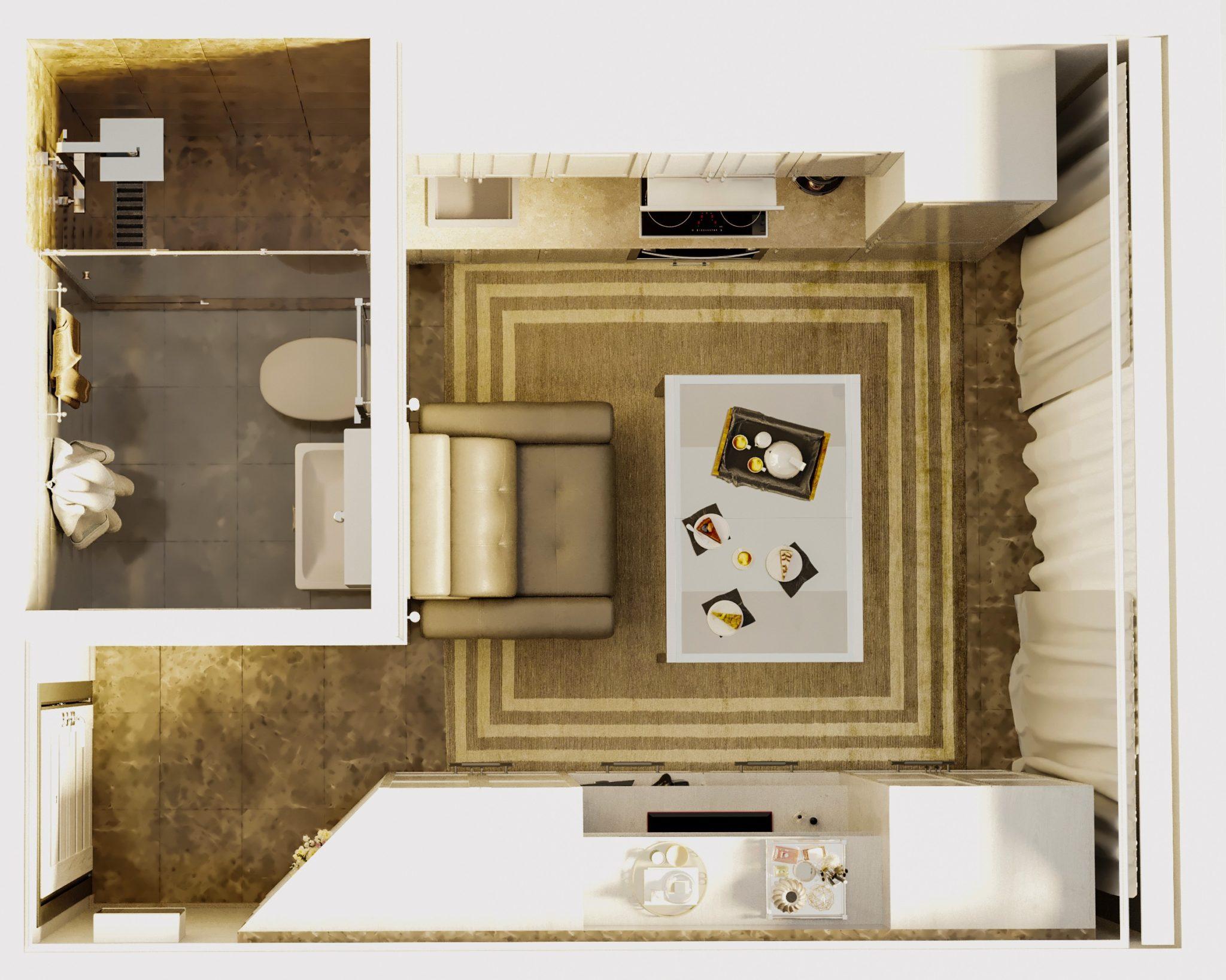 Дизайн Студии 16 кв м
