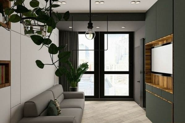Устанавливаем кровать трансформер в однокомнатную квартиру для экономии места.